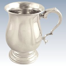 Vintage Sterling Silver Pint Mug / Tankard 1962
