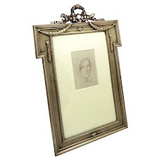 "Antique Bronze Empire Style 10 1/2"" Photo Frame c1880"