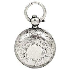 Antique Edwardian Sterling Silver Sovereign Case 1908