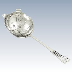 Antique Sterling Silver Tea Strainer 1953