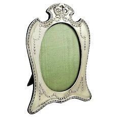 "Antique Edwardian Sterling Silver 8"" Photo Frame 1906"