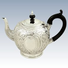 Antique Victorian Sterling Silver Teapot 1892
