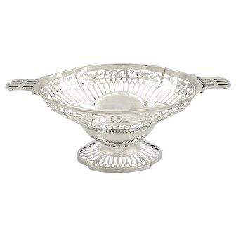 """Antique Sterling Silver 12"""" Fruit / Bread Basket / Dish 1913"""