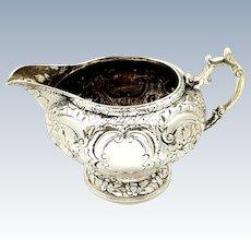 Antique Georgian Sterling Silver Jug 1820