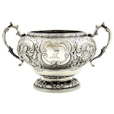 Antique Georgian Sterling Silver 2 Handle Bowl 1820