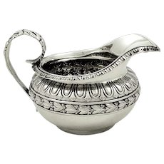 Antique Georgian Sterling Silver Jug / Creamer 1821