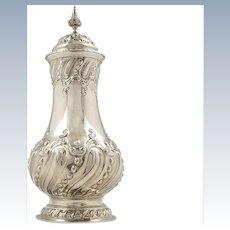 "Antique Victorian Sterling Silver 8"" Sugar Shaker / Caster 1896"