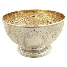 "Antique Victorian Sterling Silver 8"" Presentation Bowl 1889"