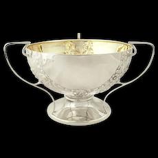 Antique Edwardian Sterling Silver 3 Handle Bowl 1907