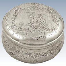Antique Victorian Sterling Silver Vanity Pot / Trinket Box 1900