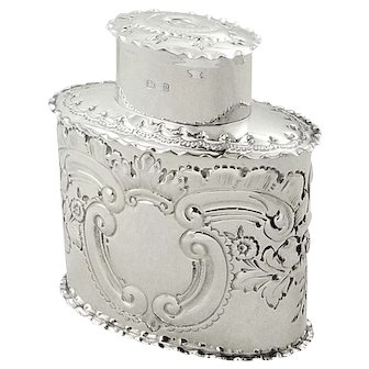 Antique Victorian Sterling Silver Caddy 1898