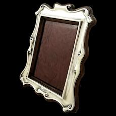 "Antique Edwardian Sterling Silver 8"" Photo Frame 1905"