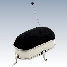 Antique Edwardian Sterling Silver Pin Cushion 1909
