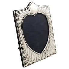 Antique Victorian Sterling Silver 'Heart' Photo Frame 1896