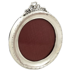Antique Sterling Silver Bow / Ribbon Photo Frame 1912