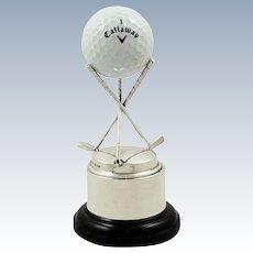 Vintage Sterling Silver Golf Trophy 1952