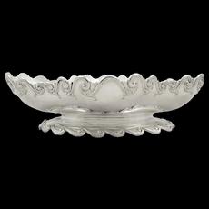 "Antique Victorian Sterling Silver 9"" Garrards Bowl / Dish 1883"