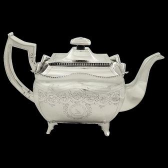 Antique Irish Sterling Silver Teapot  - Dublin 1810