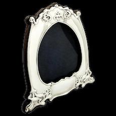 Antique Art Nouveau Sterling Silver Photo Frame 1903