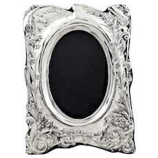 Antique Edwardian Sterling Silver Photo Frame 1902