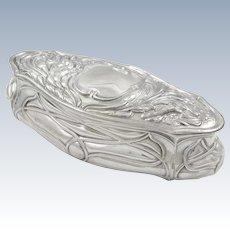 Antique Edwardian Sterling Silver Trinket Box 1904