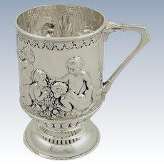 Antique Victorian Sterling Silver Christening Mug/Tankard 1899 - Mappin &Webb