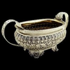 Antique Georgian Sterling Silver 2 Handle Bowl 1818