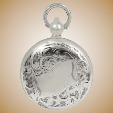 Antique Edwardian Sterling Silver Sovereign Case 1905