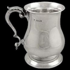 Antique Sterling Silver Pint Mug / Tankard 1944