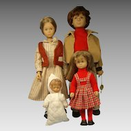 GTC West German Dolls Family Mom Dad Girl and Baby