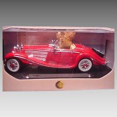 Steiff Teddy Bear in Mercedes Roadster Made for Steiff Club