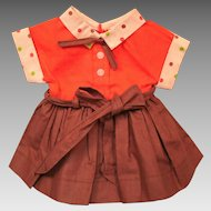 Vintage Mary Jane Doll Dress Outfit Cothes  Hard Plastic Doll
