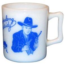 1950's Blue Hopalong Cassidy Mug Made By Hazel Atlas