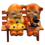 Vintage Bears in Love Salt and Pepper Shakers
