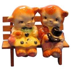 Vintage Bears in Love Salt and Pepper Shakers