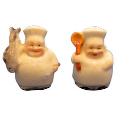 Vintage Tiny Chef Salt and Pepper Shaker Set