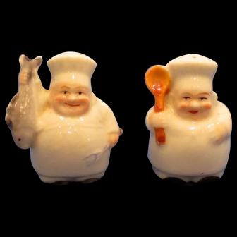 Vintage Tiny Chef Salt and Pepper Shaker Set