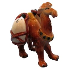 Vintage Camel Carrying Jugs Salt and Pepper Shaker Set