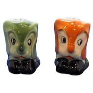 Vintage Dog Head Salt and Pepper Shaker Set