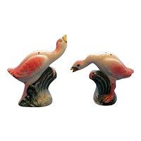 Vintage Flamingo Salt and Pepper Shaker Set