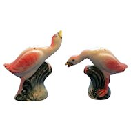 Vintage Flamingo Salt and Pepper Shaker Set