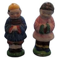 Vintage  Chinese Couple Salt and Pepper Shakers