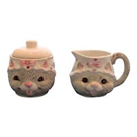 Happy Cat Sugar and Creamer Set
