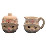 Happy Cat Sugar and Creamer Set