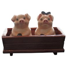 Pigs in a Trough Salt and Pepper Shaker Set