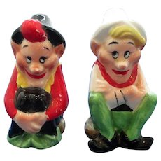 Vintage Happy Elves Salt and Pepper Shakers