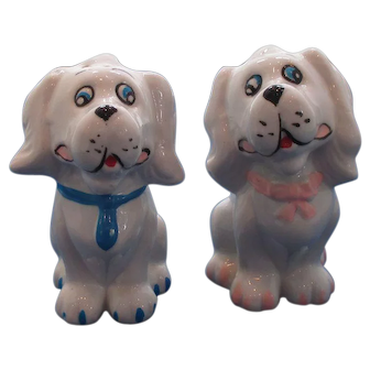 White Dog Salt and Pepper Shakers