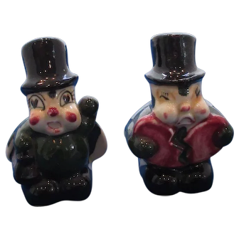 Vintage Bug With Broken Heart and Heart Doctor Bug Salt and Pepper Shakers