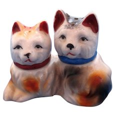 Vintage 3-Piece Dog Salt and Pepper Shaker Set
