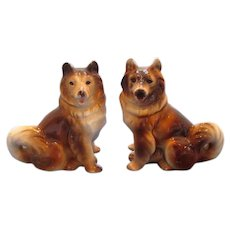 Vintage Akita Dog Salt and Pepper Shakers